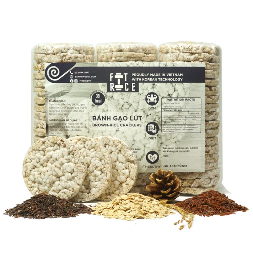 Bánh gạo lứt FitRice – Thực Phẩm Không Thể Thiếu của người ăn kiêng, tập gym